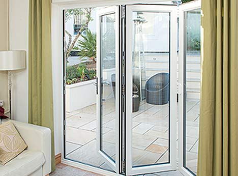UPVC Bi-fold Doors are a sleek, modern choice for a patio or garden door as the strength of the material means they can be made to suitr all tastes.