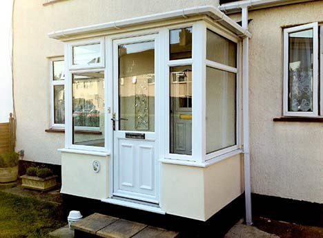 Quality glazing designs for new porch installations at houses in and around London
