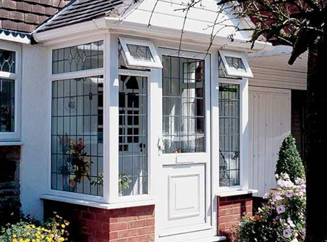 You can stick to clear glass for your side frame windows and top openers of your new porch